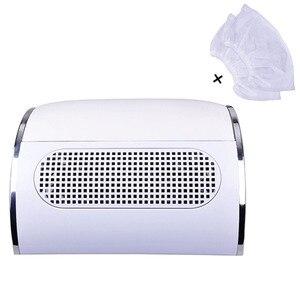 Image 1 - 2019 Nail Stofafzuiging Collector Manicure Salon Gereedschap Stofzuiger Met 3 Krachtige Ventilator Eu Plug Nail Art Apparatuur Nieuwe collectie