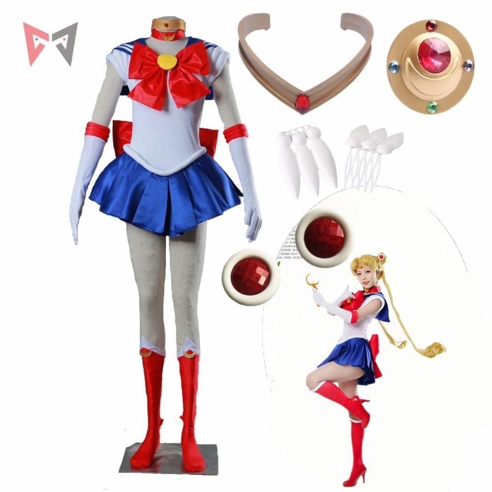 Anime Usagi Cosplay Costume Custom Made size for child female party Tsukino dress Christmas set