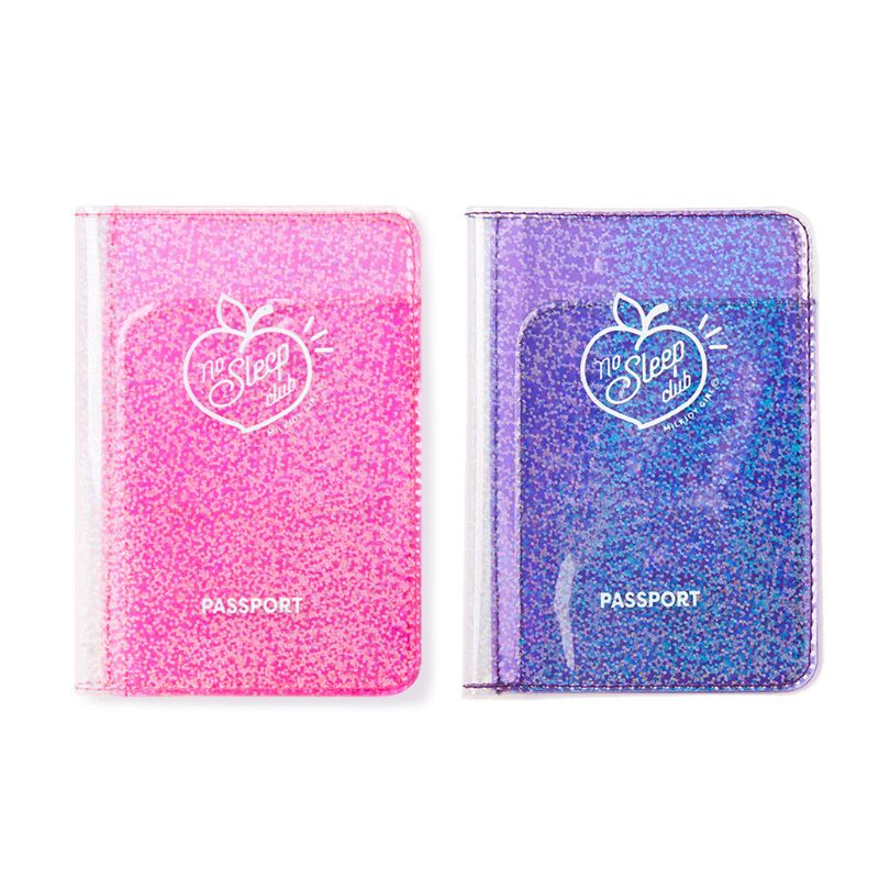 Passport Holder Cover Holographic Wallet Card Case Card Pouch For Travel Women Girls