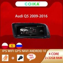 """COIKA 8.8 """"Hệ Thống Android 10.0 Xe Ô Tô Màn Hình IPS Đài Phát Thanh Cho Xe Audi Q5 2009 2017 GPS Navi Google WIFI carpaly SWC 2 + 32G RAM Mirrorlink"""
