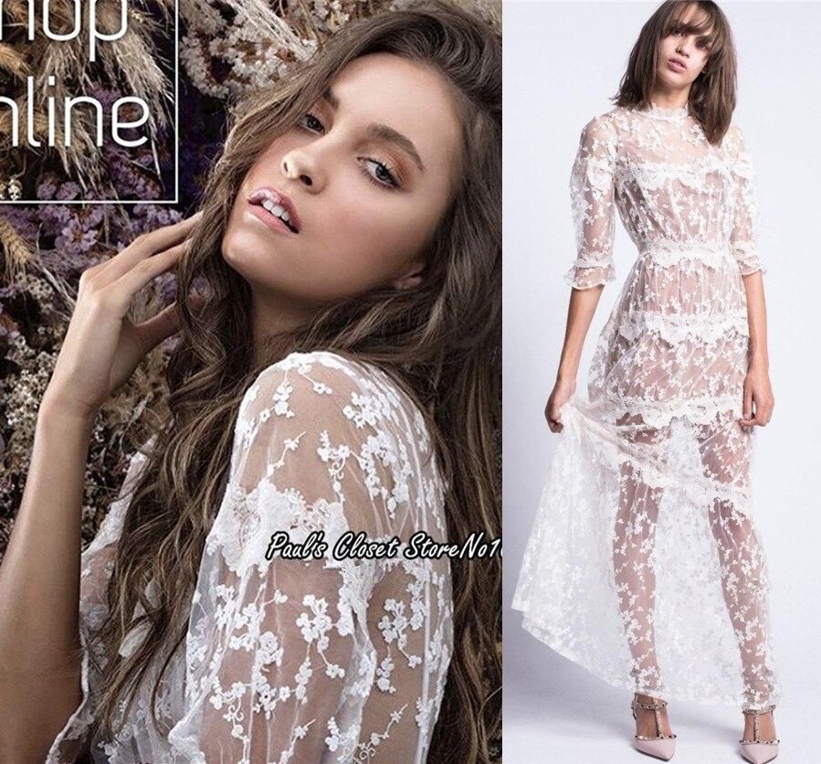 Les femmes aiment Rosebud broderie robe Maxi dentelle fleur pure robe Maxi