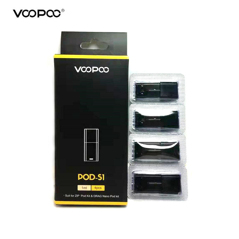 Original VOOPOO Drag NANO Pod Cartridge 1.0ml Pod-S1 Wi/ 1.8ohm Coil 1.6ml Pod-P1 Wi/ 1.5ohm Coil For VOOPOO Drag Nano Zip Pod