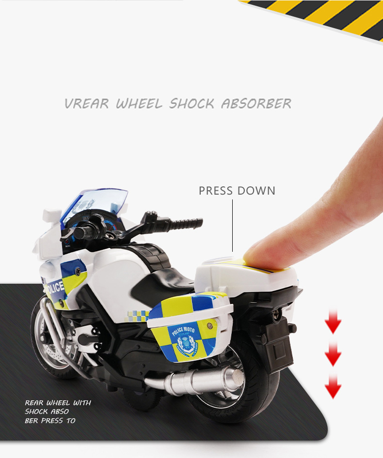 Motorcycle model Die-casting motorcycle with light and music  Toy car / Color Optional Toy gifts on Christmas Eve Ratio 1:14 3