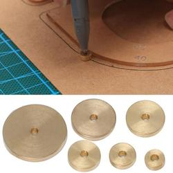 Leather Craft Tool 6Pcs Leather Brass Space Set DIY Round Line Marking Hand Craft Tool Wide/Narrow Hole