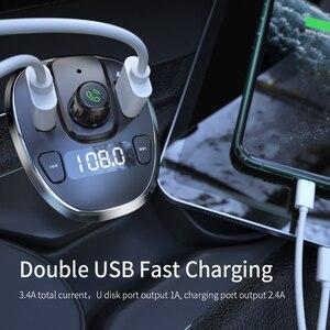 Image 4 - Essager USB 車の充電器ワイヤレス Bluetooth 5.0 カーキットハンズフリーの Fm トランスミッタ MP3 急速充電器 iPhone Xiaomi 携帯電話