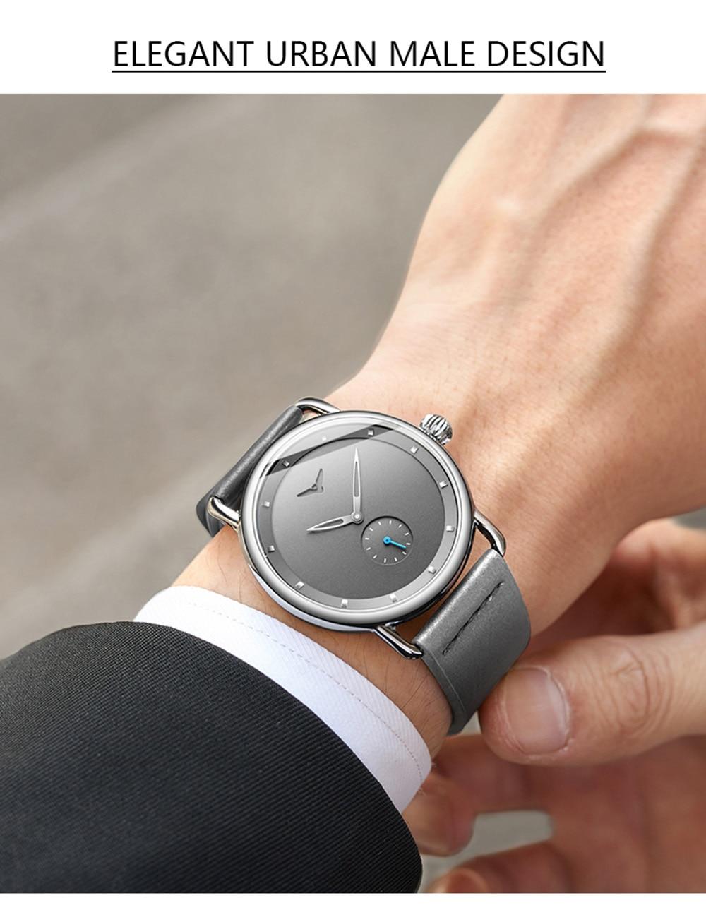 Hf7e7eff283bd41e8a55e9855ba9fb410U ONOLA top brand leather men watches clock fashion sport simple casual waterproof Wrist watch men relogio masculino