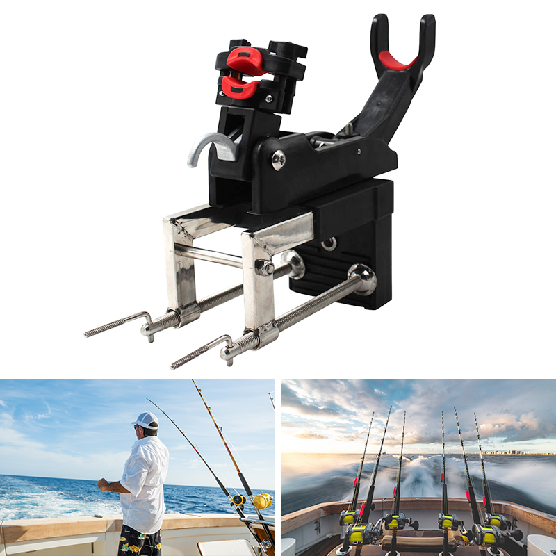 Rotatable Fishing Rod Holder Bracket With Screws For Boat
