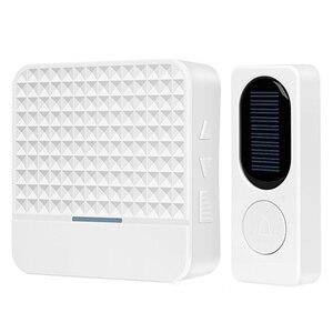 Image 3 - NEW Waterproof Solar Powered Wireless Doorbell Alert System 300M Range 52 Chimes Electric Doorbell With Led Light EU Plug