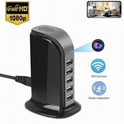 2020 new HD WIFI USB Charging Station camera 1080p 5-USB Port charger video camera wireless network home office IP camcorder