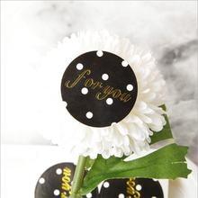 100 шт черные круглые наклейки для упаковки тортов