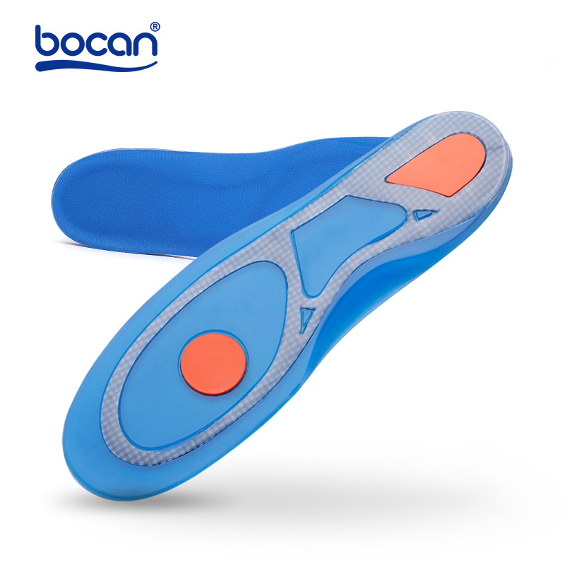 Bocan Silicon Gel Insoles Foot Care for Plantar Fasciitis Heel Spur Shoe Insoles Shock Absorption Pads arch orthopedic insoles