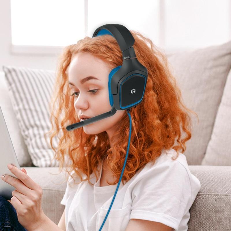 Image 3 - ロジクール G430 7.1 サラウンドゲームステレオ USB ケーブルヘッドセット調整可能なノイズリダクションロータリー  w/Pc/ PUBG ヘッドホン    グループ上の 家電製品 からの ヘッドホン/ヘッドセット の中