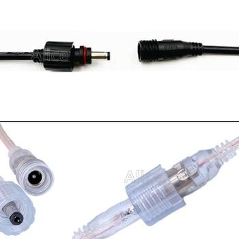 10/50 пар светодиодный разъем IP68 DC 5,5x2,1 мм штекер-гнездо адаптер для светодиодный адаптер питания