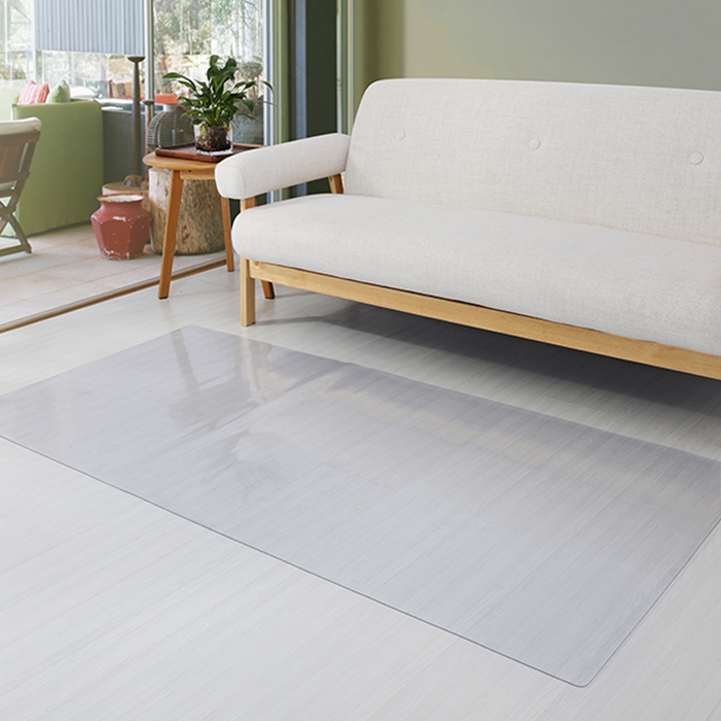 Living Room Wooden Floor Protection Mat Bathroom Kitchen Waterproof Non-slip Carpet Plastic Floor Mat PVC Transparent Door Mat