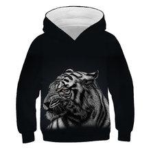 Wolf 3D Kids Hoodies for Girls Teenagers Oversized Children's Sweatshirt for Boys Girls Sweat Shirt Child Boy Hoodies Clothes цена 2017