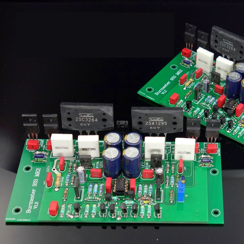 KYYSLB DC Dual 30V ~ 60V 180W*2 4 Euro Class A Power Amplifier Board 933 Current Feedback Power Amplifier Kit Finished Board image