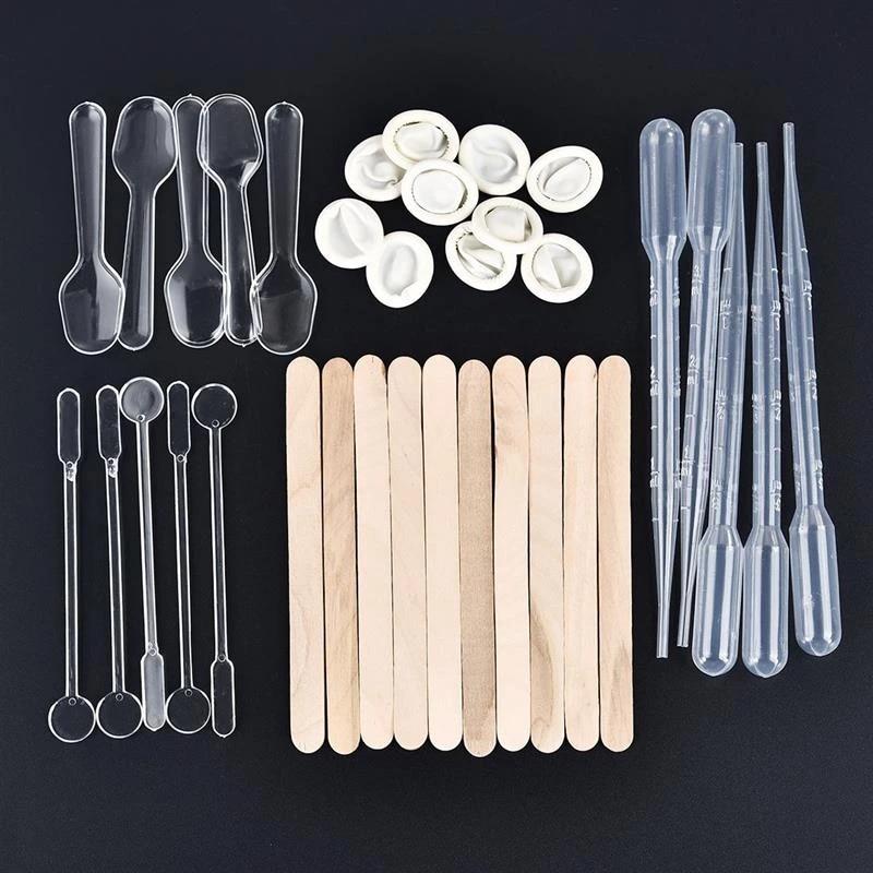 35Pcs//Set Resin Molds UV Epoxy Jewelry Making DIY Tool Stirring Stick Straw Kits