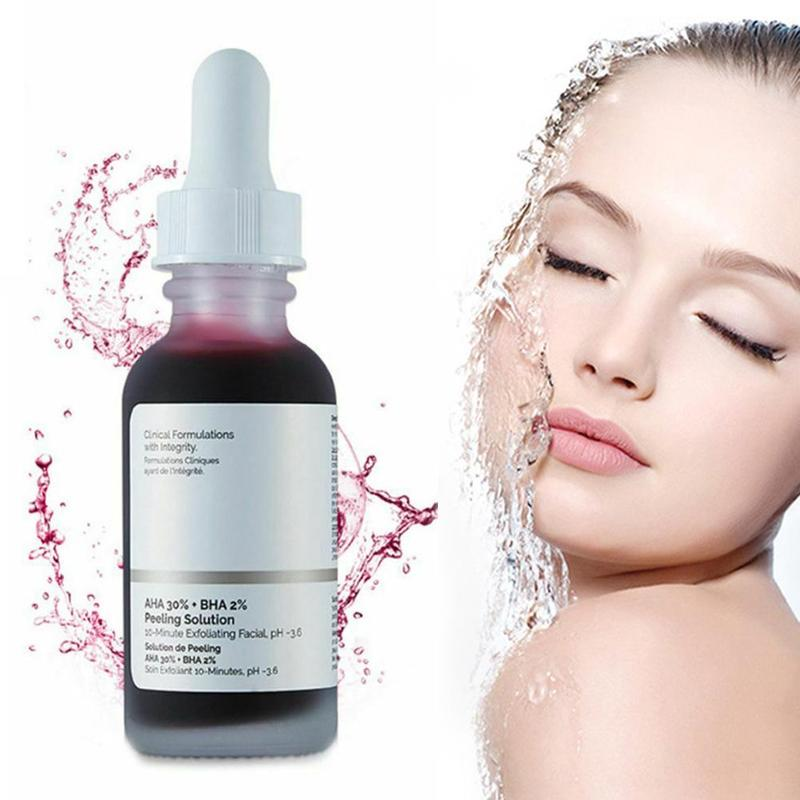 30ml 10mins Exfoliating Mask Facial Serum Remove Acne Scars Whitening Skin Care The Ordinary Peeling Solution in Serum from Beauty Health