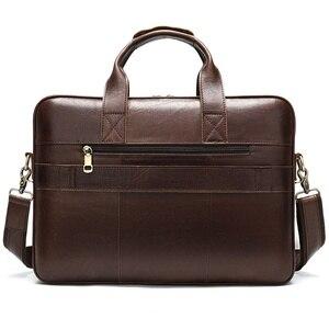 Image 2 - WESTAL Business Men Briefcase Laptop Bag Leather Mens Messenger Bag Genuine Leather Work/Office Bags for Men Briefcase Male