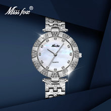 Женские часы missfox с браслетом серебристые винтажные элегантные