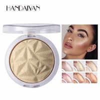 Schimmer Pulver Highlighter Palette Glow Kit 6 Farben Basis Illuminator Highlight Schönheit Gesicht Make-Up Contour Goldene Bronzer