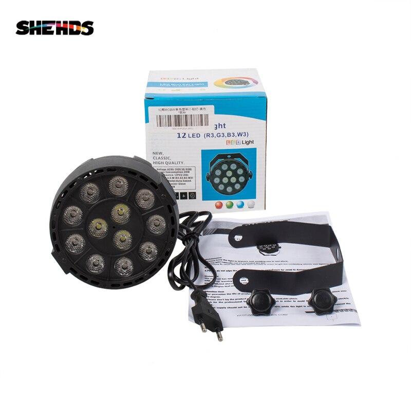 Wireless Remote Control RGBW 12x3W UV Disco Wash Flat Light Equipment 8 Channels DMX 512 LED Uplight Stage Lighting Effect Light 4