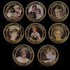 Celebridad mundial chapado en oro Princesa Diana 8 unids/set desafío moneda Moneda de desafío