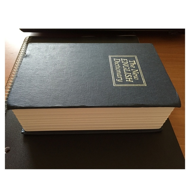 Dictionary Book Safe Diversion Secret Hidden Security Stash Booksafe Lock&Key Black