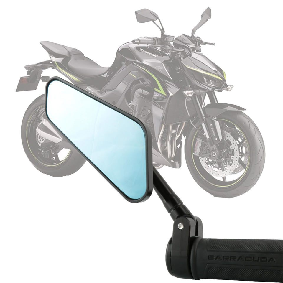 Motorcycle Rear View mirror Heavy Duty Aluminum Alloy Universal 7//8 Standard Hollow Handlebar Side Black for Touring Cruiser Chopper Cafe Racer Tracker Sport Street Naked Bike MZS Bar End Mirrors