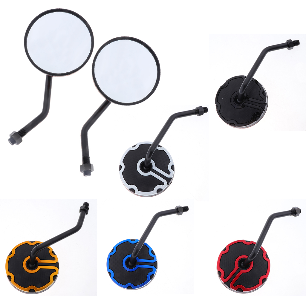 1 Pair Universal 360 Degrees Rotated Motorbike Dirt Bike ATV Moped Scooter 10mm Rear View Mirror Easy to Install