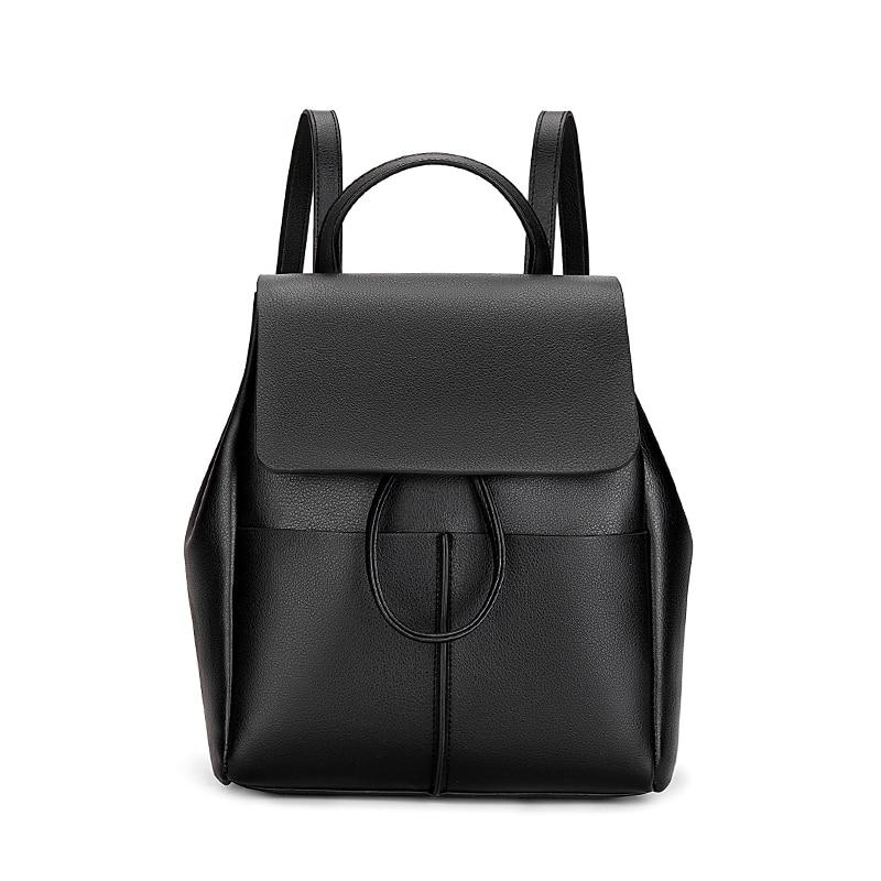 Ceossman Fashion Women Backpack High Quality Youth Leather Backpacks For Teenage Girls Female School Shoulder Bag Bagpack
