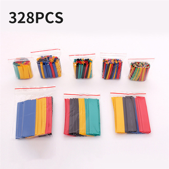 цена на 164/328 pcs Heat Shrink Tube Tubing Insulation Shrinkable Tube Sleeving Wrap Wire Car Assortment Electrical Cable Polyolefin