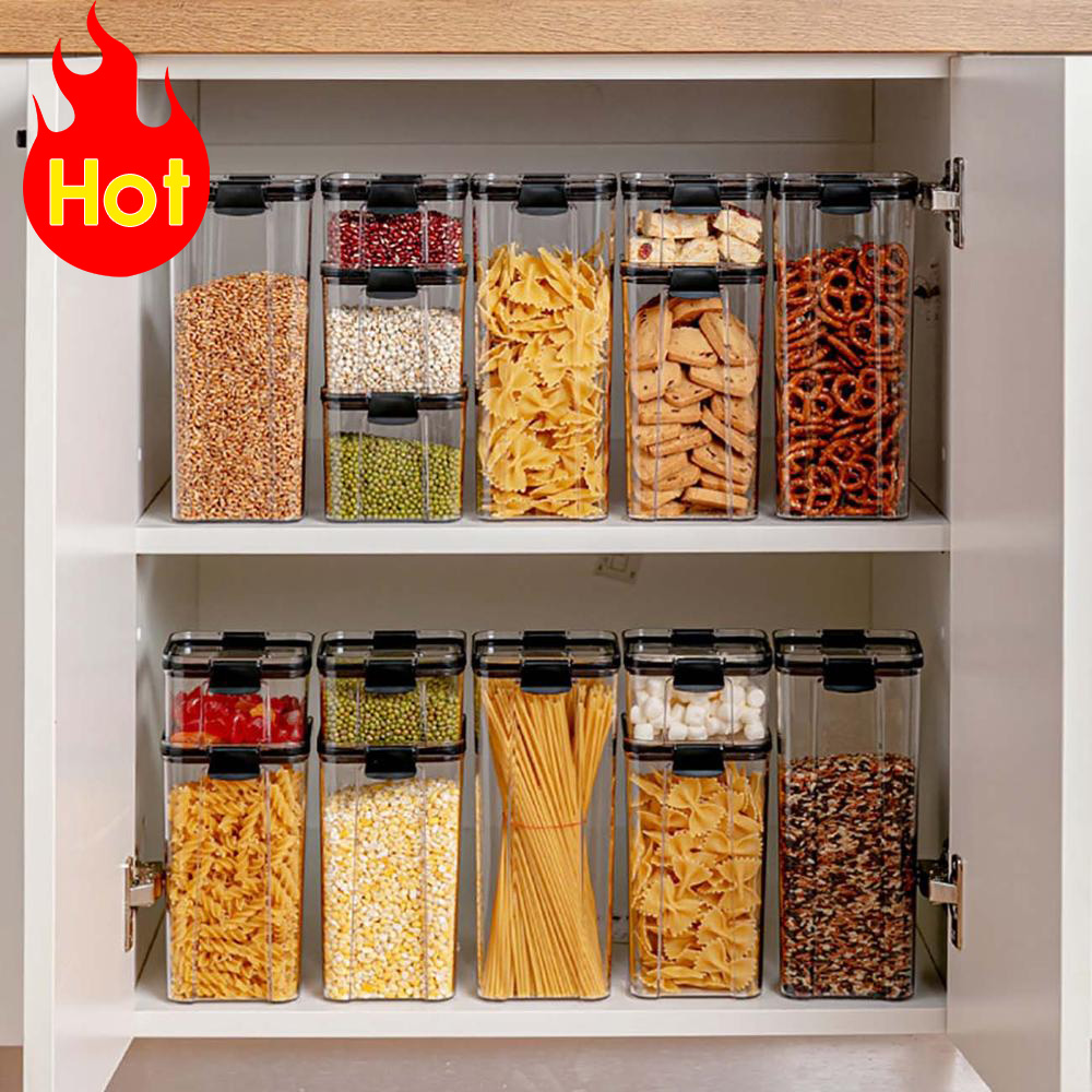 700/1300/1800ML Food Storage Container Plastic Kitchen Refrigerator Noodle Box Multigrain Storage Tank Transparent Sealed Cans|Bottles,Jars & Boxes| - AliExpress