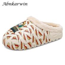 Plush-Slippers Pantoufles Slides Women Winter Indoor Home Warm with Fur-House Zapatillas-de-casa/Mujer/Invierno/..
