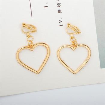 Simple Design Silver Color Hollow Heart Drop Earrings For Women New Brand Fashion Ear Cuff Piercing Dangle Earring Gift A197 2