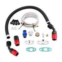 Turbo Olie Feed Return Lijn AN10 Montage Adapter Flens Kit 1/8 Npt Adapter Turbo Laders En Onderdelen Voor T3 T4 GT35 T70 T66