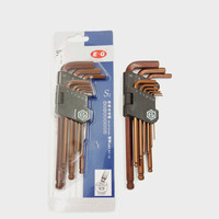 S2 Lengthen Hard Hex Key Set Superhard Lengthen Ball Hexagon Wrench Metric Set Hex Key
