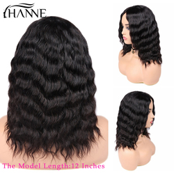 HANNE Haar Menschliches Haar Perücken Lose Tiefe Welle Perücken Mittleren Teil 100% Brasilianische Remy Haar Glueless Perücke Natürliche Farbe