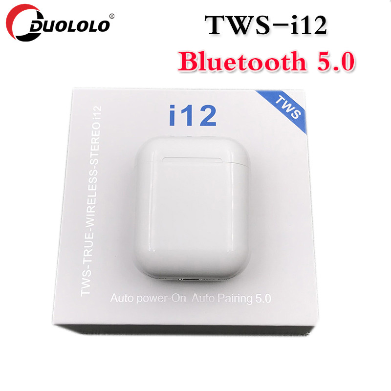 Drop shipping i12 TWS <font><b>Bluetooth</b></font> <font><b>Earphone</b></font> Wireless Headphones Mini <font><b>5.0</b></font> Stereo Wireless Earbuds Pk <font><b>I9s</b></font> I7s I10 Earbuds Headphone image