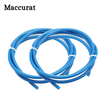 Maccurat 1 Meter Blue PTFE Tube Teflon PiPe 3D Printer Parts 2mm*4mm Teflon For RepRap J-head Hotend Bowden Extruder 1.75mm 2 3d printer parts cyclops 2 in 1 out 2 colors hotend 0 4 1 75mm 12v 24v fan bowden with titan bulldog extruder multi color nozzle