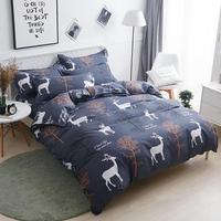 Thumbedding Forest Bedding Set Deer Creative High End Fresh Duvet Cover King Queen Full Twin Single Unique Design Bed Set