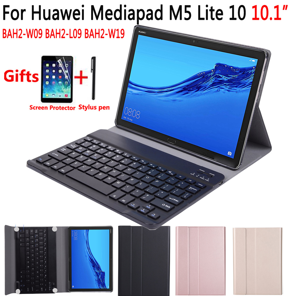 Keyboard-Case Bah2-W19-Cover Huawei Mediapad Bluetooth English for M5 Lite 10-10.1/Bah2-w09/Bah2-l09/.. title=