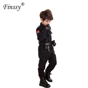 Image 3 - Boys Policemen Costumes Children Cosplay for Kids Army Police Uniform Clothing Set Long Sleeve Fighting Performance Uniforms