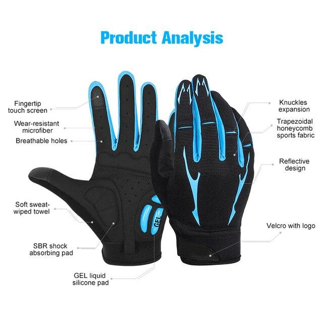 Купить ветрозащитные велосипедные перчатки с сенсорным экраном для картинки цена