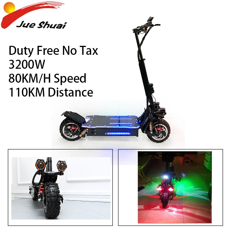 80KM/H E Scooter 3200W 60V Lithium Battery Foldable Off Road Powerful Electric Scooter Electrico Motor Patinete Electrico Adulto