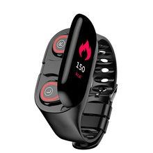 M1 smart watch bluetooth headset 2-in-1 wireless headset with running heart rate pedometer for IOS Android phone