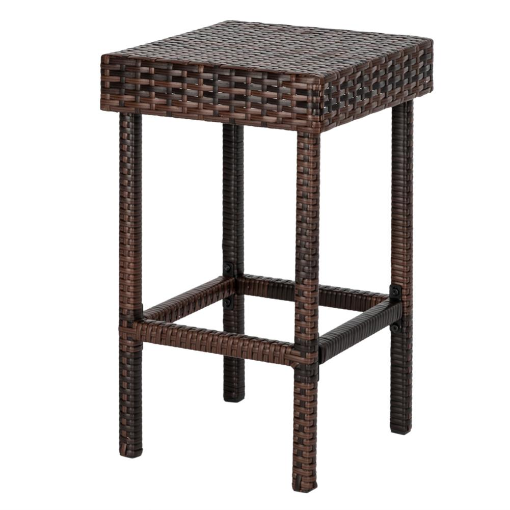 4PCS Bar Stool Chair Set For Kitchen Modern Table Of 5 Brown Gradient Furniture