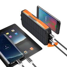25000Mah mobilny powerbank powerbank na energię słoneczną bezprzewodowy akumulator przenośny Power Bank tanie tanio OLNYLO 20000-30000 400 A 90 Rohs 12 v 450g Oświetlenie