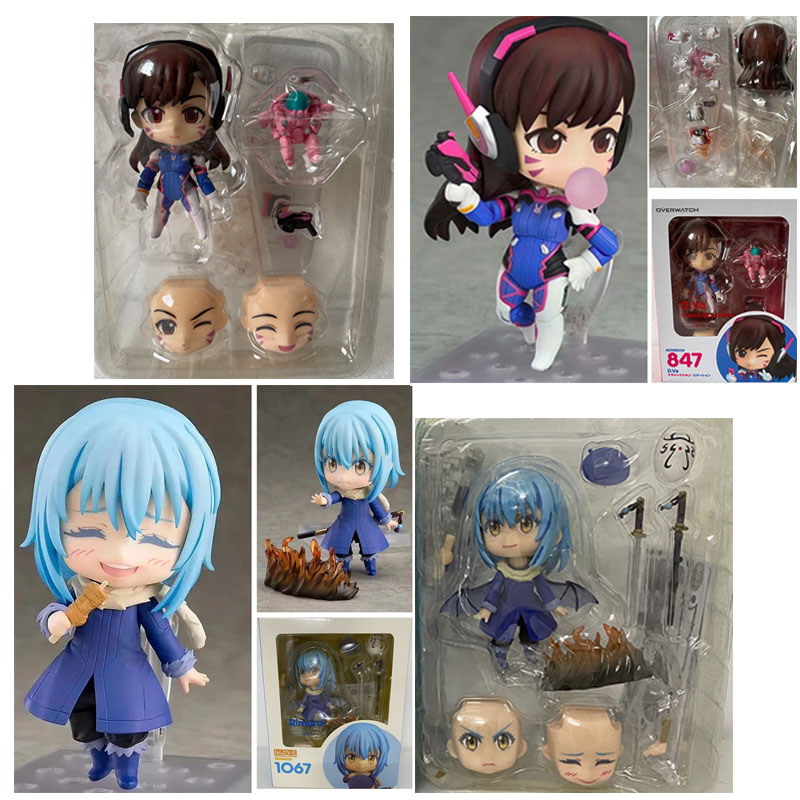 Anime Overwatches Figure Two Faces Classic Skin D.Va 847 ON  Slime Rimuru Tempest 1067 Action Figure Model Toys Children Lovely