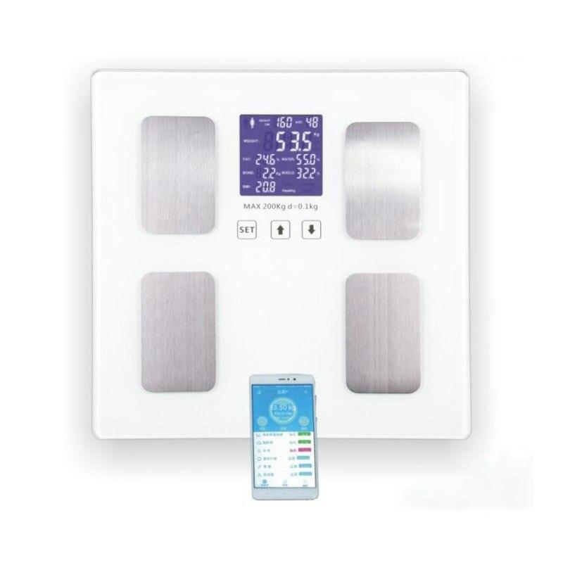 Весы для тела человека BMI электронные весы измерения жира напольные весом 200 кг